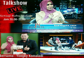 Acara Live Talkshow di INTV bersama Bp Yongki Komaladi Owner Big Brand of Fashion Shoes & Bag